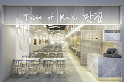 Restaurant Interior Design Taste of Korea | D'Marvel Scale Singapore