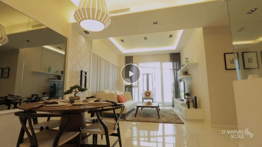 Jade Palace Oriental Showsuite Interior Design Video Highlights | D'Marvel Scale Singapore