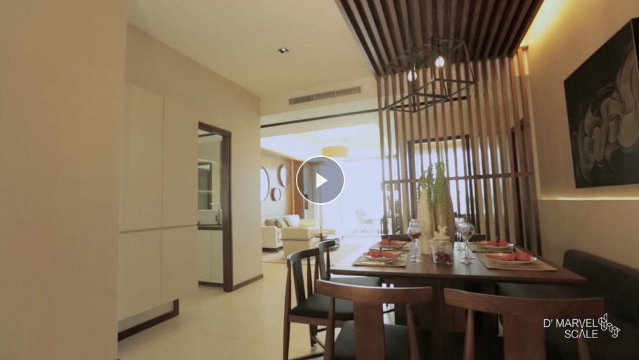 Jade Palace Tropical Showsuite Interior Design Video Highlights | D'Marvel Scale Singapore